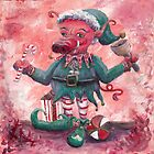 Santa's Littlest Elf Hog by Nadine Rippelmeyer