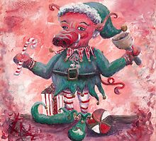 Santa's Littlest Elf Hog by Nadine Rippelmeyer