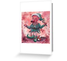 Santa's Littlest Elf Hog Greeting Card