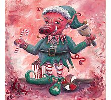 Santa's Littlest Elf Hog Photographic Print