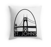 Bridge City: St. Johns Throw Pillow
