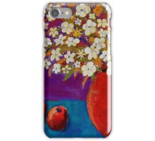 Red Vase With Flowers iPhone Case/Skin