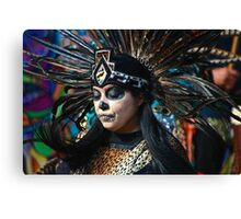 Dia do Los Muertos Dancer Canvas Print