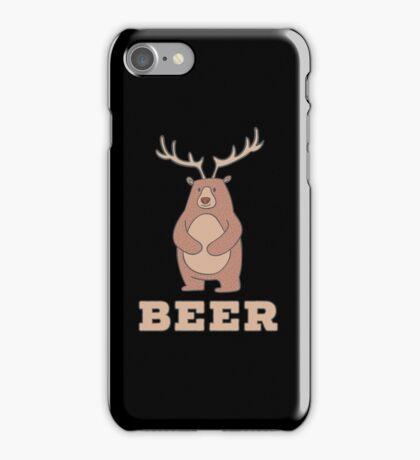 Funny Beer Bear Deer iPhone Case/Skin