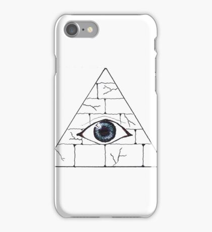 pyramid eye iPhone Case/Skin