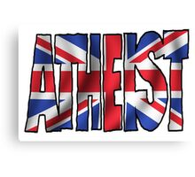 UK ATHEIST Canvas Print