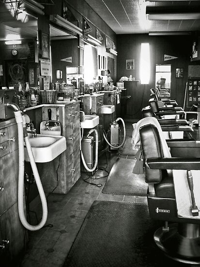 barber shop by Bruce  Dickson