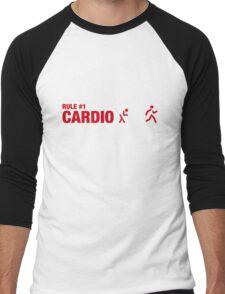 Rule #1: Cardio. Men's Baseball ¾ T-Shirt