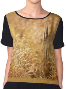Golden cereal plant photo Chiffon Top