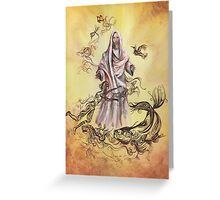 Jesus Christ with Symbols of Christianity  Greeting Card