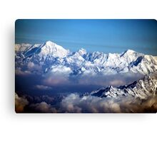 The Himalayas and Mount Everest Canvas Print