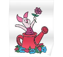 Piglet in a Watering Can Poster