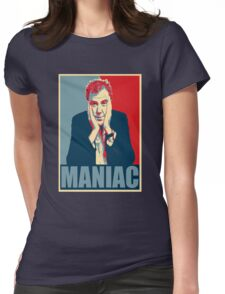 Maniac! Jeremy Clarkson Womens Fitted T-Shirt