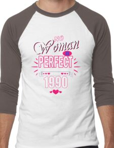 Perfect Woman born in 1990 Men's Baseball ¾ T-Shirt