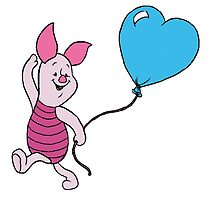 Piglet with a Balloon by BelovedxCisque