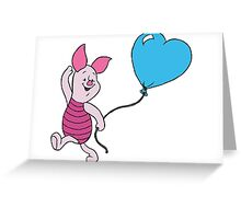 Piglet with a Balloon Greeting Card