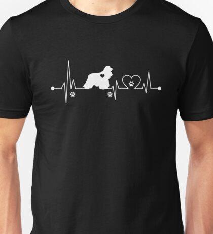 Heartbeat Dog Cocker Spaniel Unisex T-Shirt