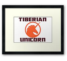tiberian unicorn Framed Print