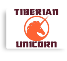 tiberian unicorn Canvas Print