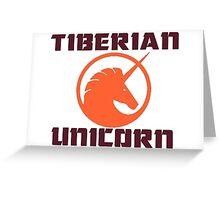 tiberian unicorn Greeting Card