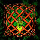 The Horned Pagan God Cernunnos being born from a Celtic knot by Dennis Melling