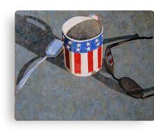"""""""Card table still life"""" Canvas Print"""