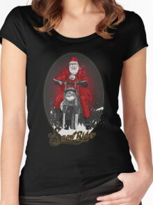 SNOW RIDER Women's Fitted Scoop T-Shirt