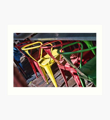Colourful Chairs Art Print