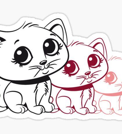 Katze baby süss sitzt lieb design  Sticker