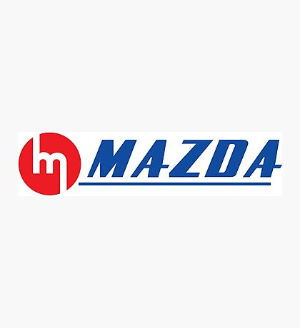 Vintage Mazda Logo Photographic Print