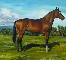 Channeling Stubbs........Thoroughbred by WildestArt