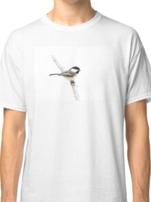 Black-capped Chickadee in winter Classic T-Shirt