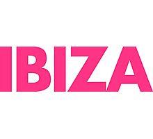 Ibiza Text Photographic Print