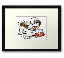 Christmas Cookie Thief Framed Print