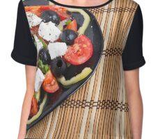 Fresh vegetable salad closeup Chiffon Top