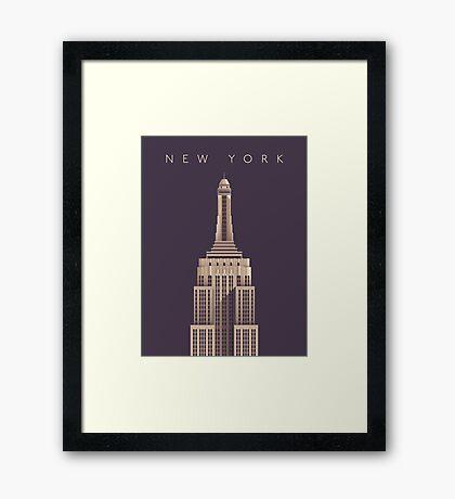 Empire State Building (Alt Vintage) Framed Print