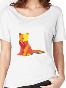 Abstract vector cat by TKR Art Women's Relaxed Fit T-Shirt