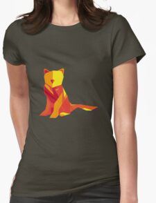 Abstract vector cat by TKR Art Womens Fitted T-Shirt