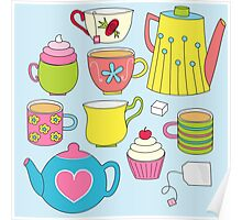Teapots, cupcakes & more Poster