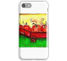 Wagons and Pumpkins iPhone Case/Skin
