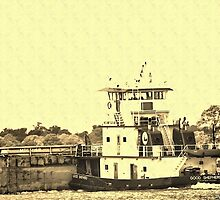 Antiqued Tugboat by DRCP