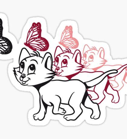 Katze baby süss schmetterling design  Sticker