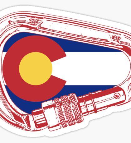 Colorado Climbing Carabiner Sticker