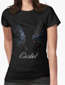 Castiel Galaxy Blue Womens Fitted T-Shirt
