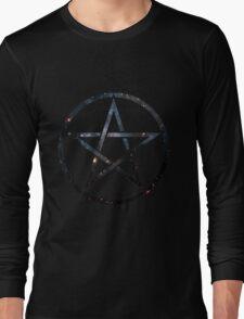 Pentagram Blue Galaxy Long Sleeve T-Shirt