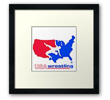 USA WRESTLING LOGO  Framed Print