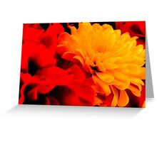 Fiery Flowers   - 2  ^ Greeting Card
