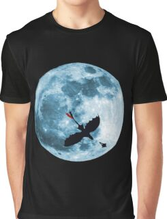 Full Moon Flight Graphic T-Shirt