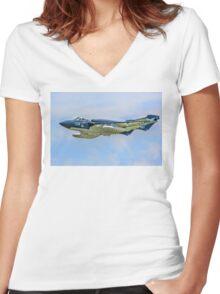 De Havilland Sea Vixen FAW.2 XP924/134 G-CVIX Women's Fitted V-Neck T-Shirt