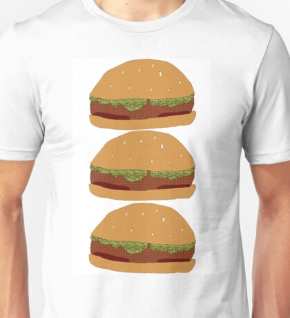 Burger Collage Stacked Unisex T-Shirt